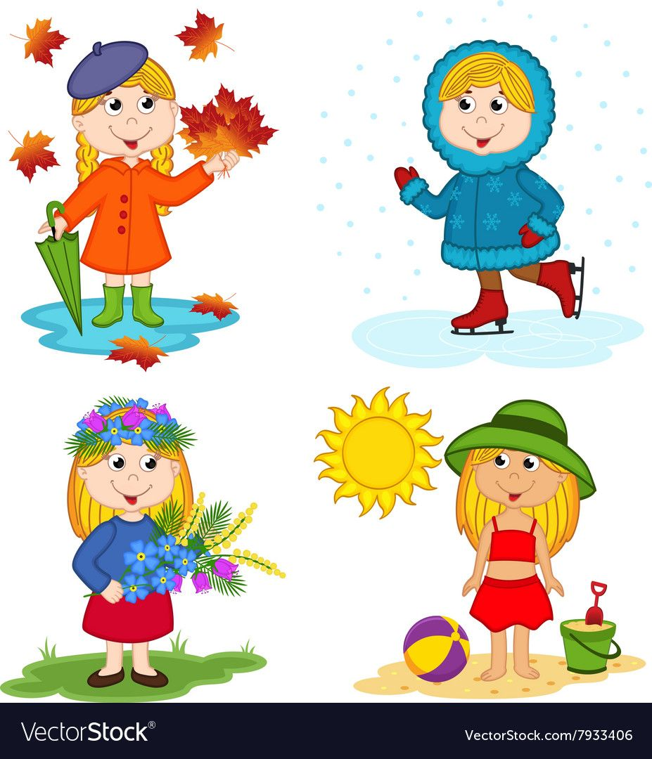 4 Seasons Pictures For Kids