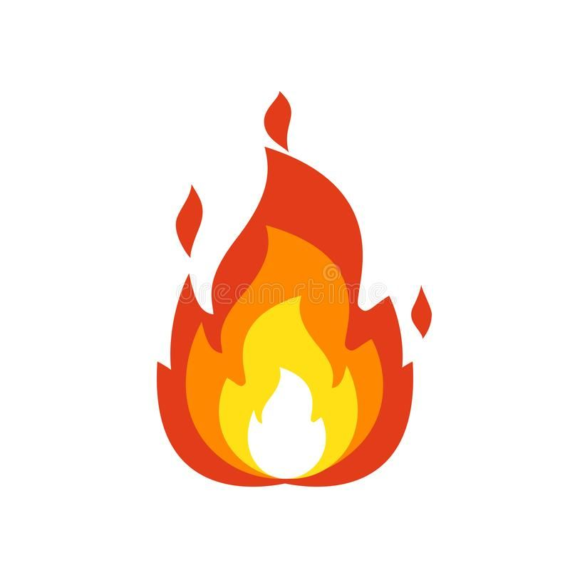 Fire Flame Icon Isolated Bonfire Sign Emoticon Flame Symbol Isolated On White Spon Bonfire Sign Emoticon Logo Illustration Emoticon Illustration
