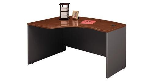 """Bush Industries WC24433 Left L-Bow Desk, 58-7/8 in.x42-7/8 in.x29-7/8 in., Hanson Cherry/Graphite by Bush. $347.52. 58-7/8 in.x42-7/8 in.x29-7/8 in.. Sold Individually as 1 Each. Hanson Cherry/Graphite. Series C Executive Modular Desking configures in dozens of ways, giving you the ability to maintain a more efficient and private office environment. Combines style, functionality, durability, storage, nonhanded configurability. Durable 1"""" thick worksurfaces and end ..."""