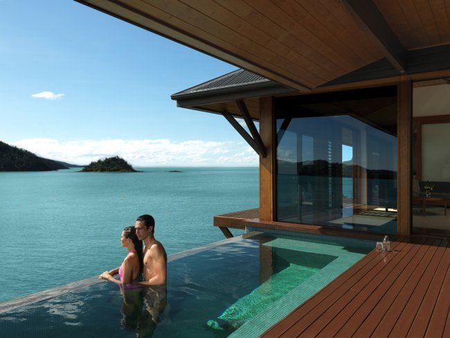 The Qualia hotel on Hamilton Island, overlooking the Great Barrier Reef.