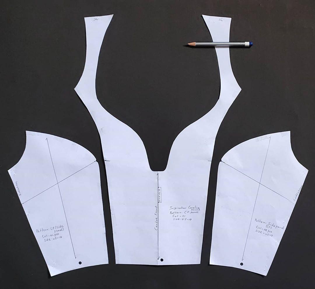 "Abdul Rahman on Instagram: ""#patternmakingforfashiondesign#princessbodice#contoured#necklines#drafting#patterncutting#seams#dressmaking#carolinaherrera#inspiration#sketch#process#modelist#fashiondesigners#patternmaking#nift#niftian#paperartist#designprocess#fashionblogger#blog#patternista#designerclothes#fashionworld"""