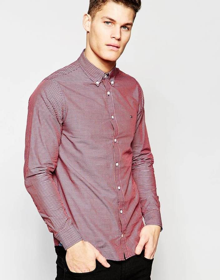 Tommy Hilfiger Gingham Shirt in Red Blue