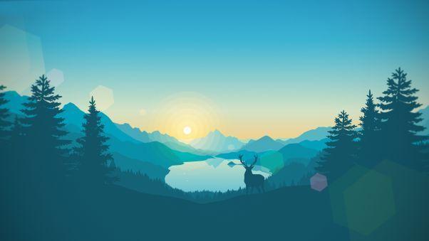 Firewatch Game Graphics Landscape Wallpaper Mountain Wallpaper Wallpaper Pictures