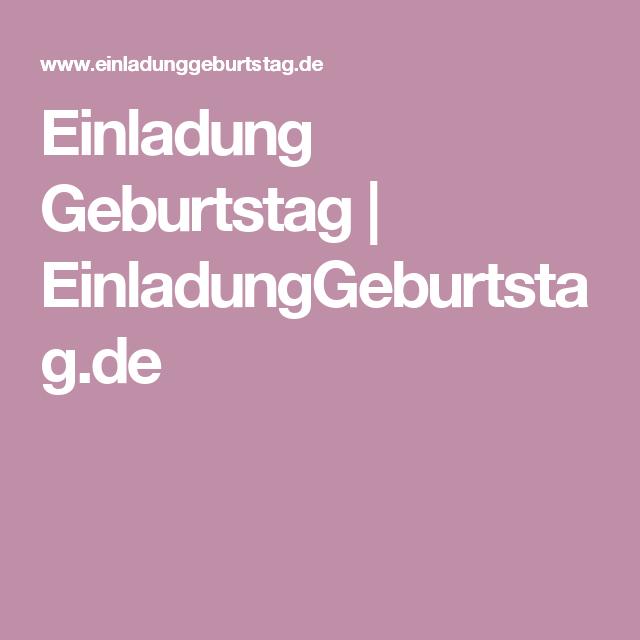 Einladung Geburtstag   EinladungGeburtstag.de
