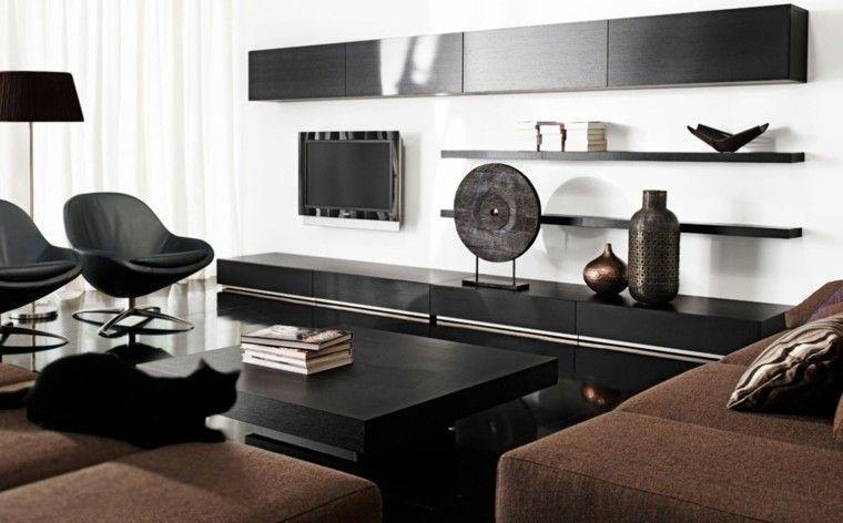 Blanco y negro: 50 ideas para el salón moderno y elegante ...