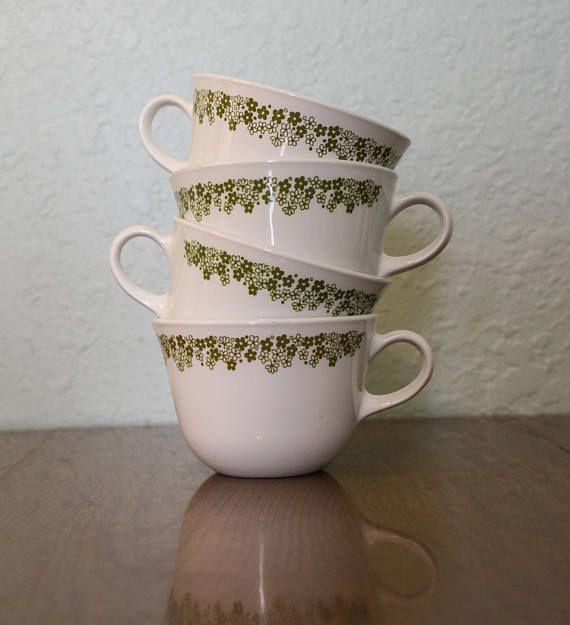 Corelle Crazy Daisy C Handle Cups ~ Crazy Daisy Coffee Cups ~ Crazy ...