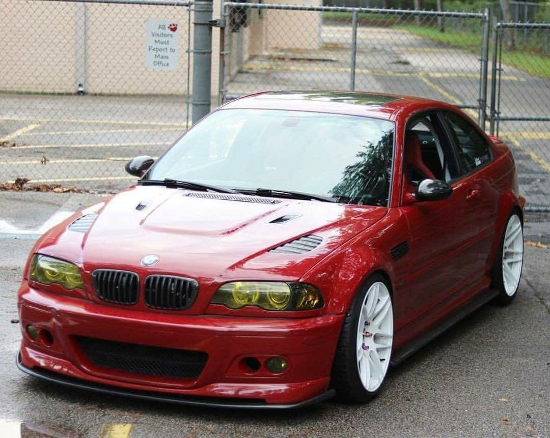 Bmw E46 M3 Red With Images Mașini