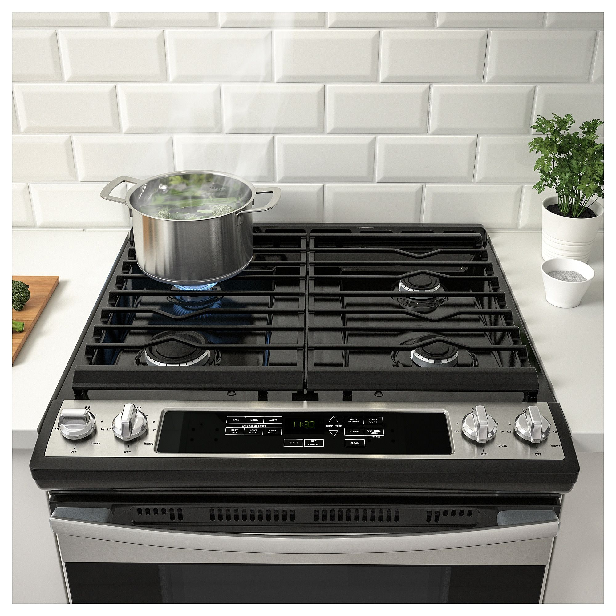 Ikea Tillagad Stainless Steel Range With Gas Cooktop Range Cooker Cooking Supplies Fun Cooking