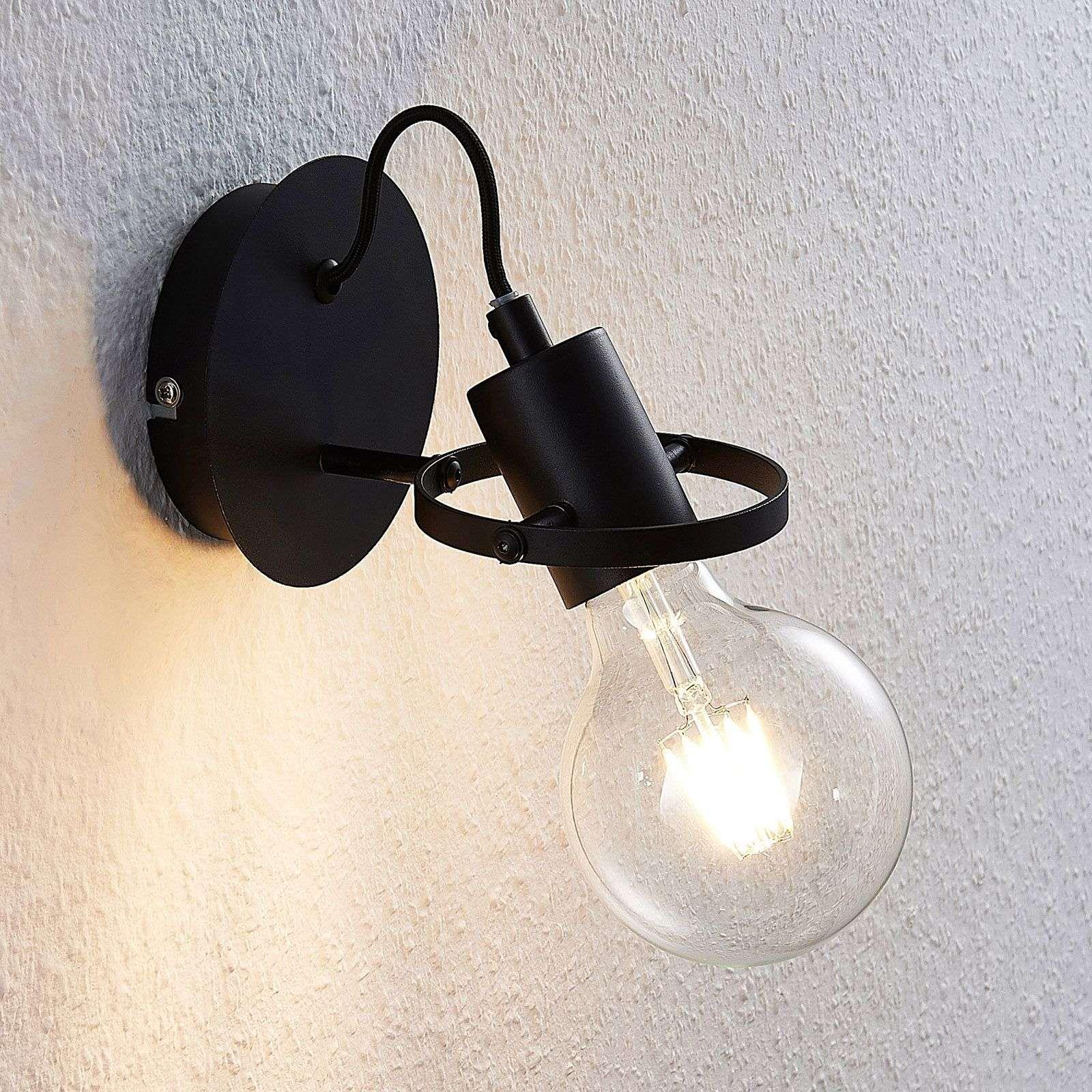 Lindby Mirtel Applique En Noir In 2020 Wandleuchte Led Lampe Wandlampe