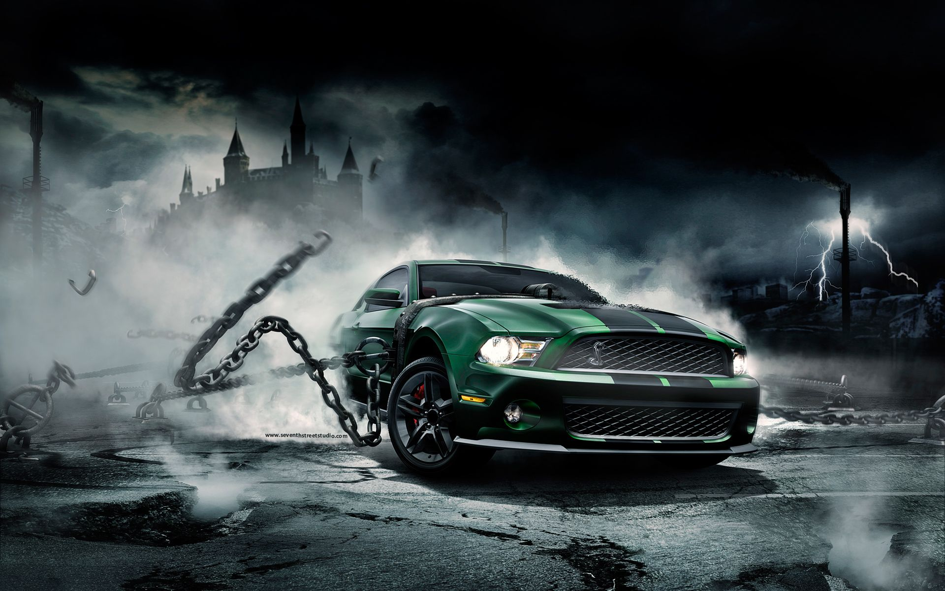 My Today S Wallpaper A Monster Mustang Its Definitely Better Den Yours Wallpaper Super Araba Araba Guclu Amerikan Arabalari