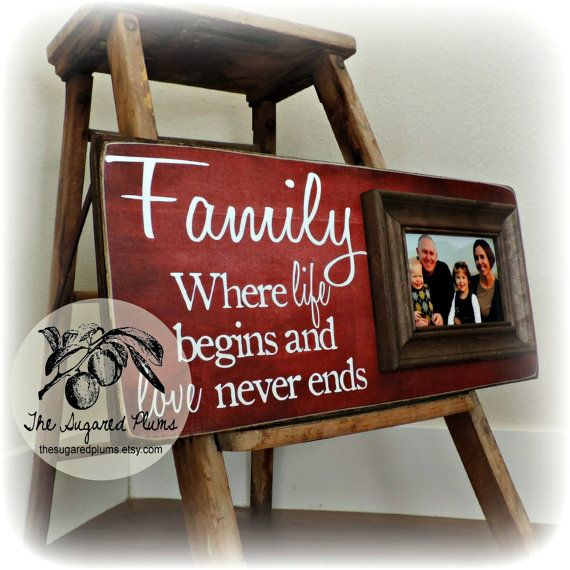 Personalized Family Name Signs, Picture Frame Quote, Custom Wedding ...
