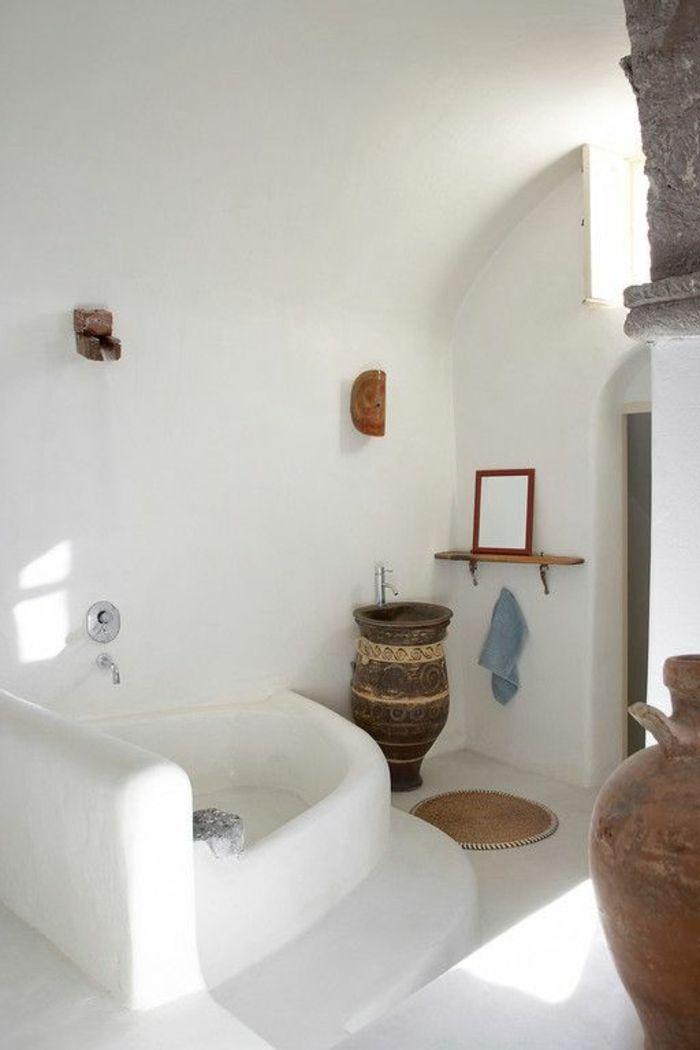 Salle de bain grecque
