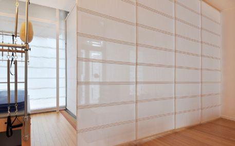 cloisonnement quatre panneaux voile semi opaque panneaux japonais voile semi opaque. Black Bedroom Furniture Sets. Home Design Ideas