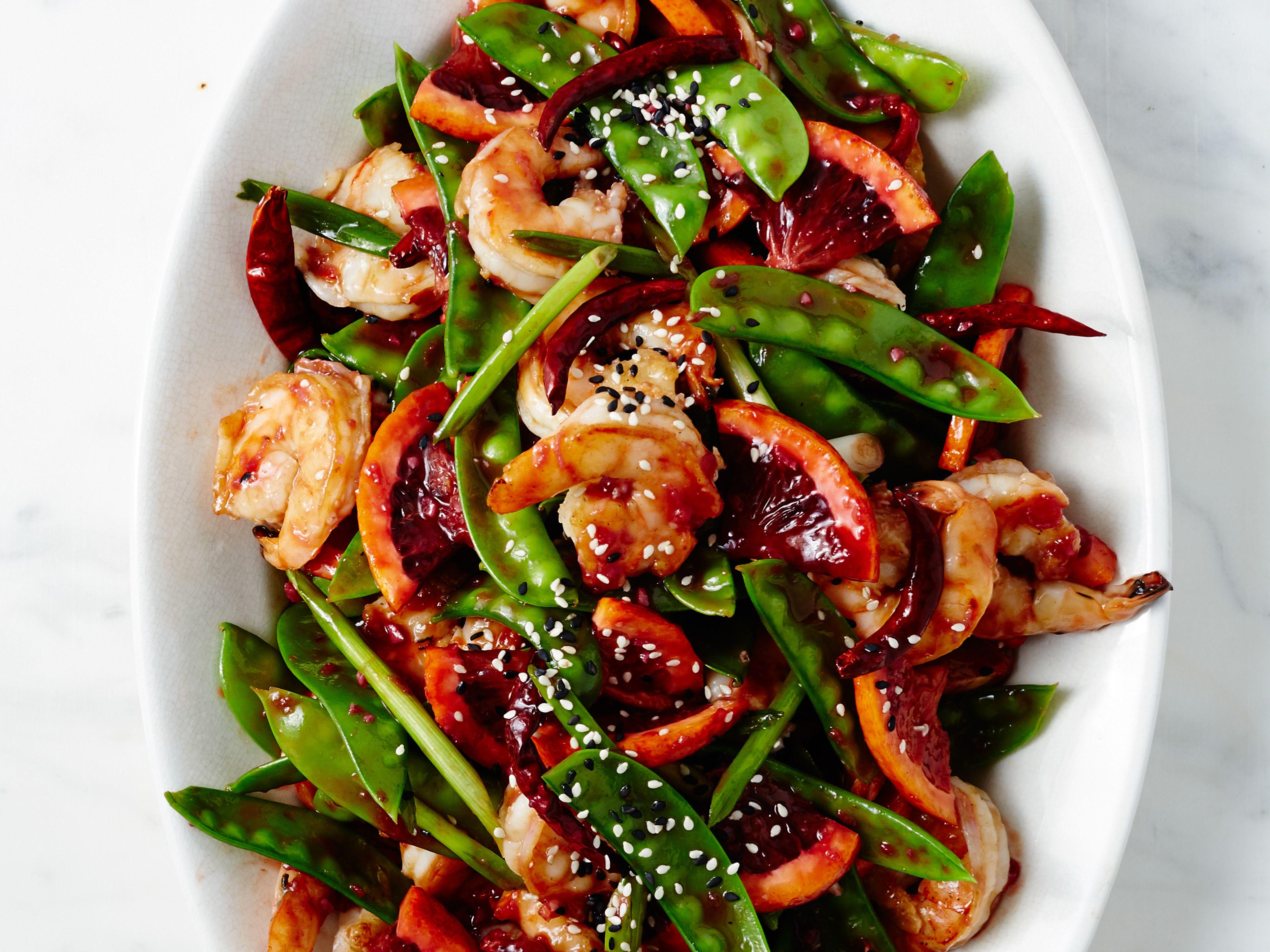 Blood Orange-Shrimp Stir-Fry recipe from Food Network Kitchen via Food Network