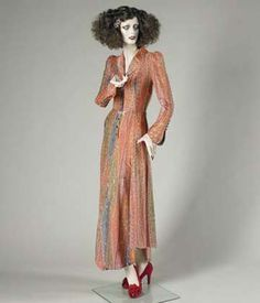 antonio lopez 1970's  illustrations   Evening dress, cellulose acetate, nylon and lurex, Bill Gibb, 1973 ...