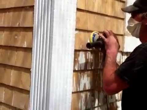 How To Strip Paint Off Cedar Shingle Siding Youtube Shingle Siding Stripping Paint Cedar Shingle Siding