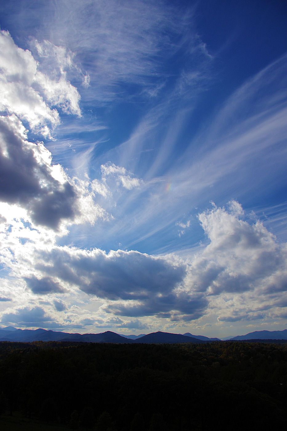 Beautiful Skies Over The Blue Ridge Mountains In North