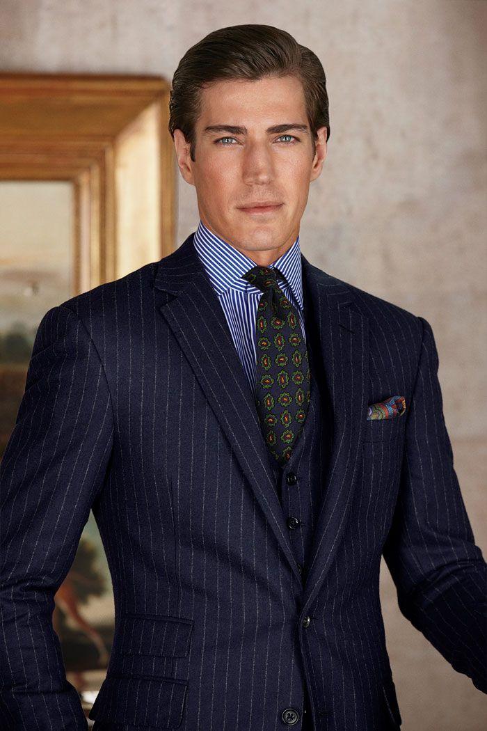 Ralph Lauren Purple Label Fall 2012 | Pinstripe suits | Pinterest | Polos, Men's fashion and Man ...