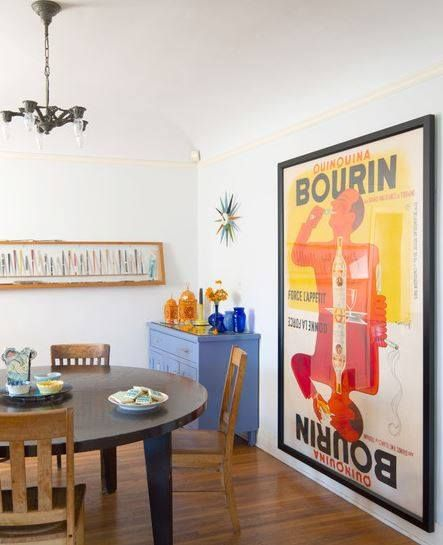 Bourin Quinquina Poster Dining Room