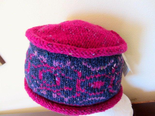 Irish Fairisle Fair isle Wool Hat Cloche. Made in Ireland by ...