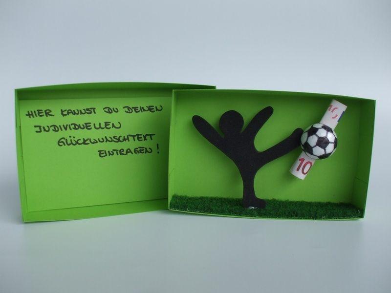 geldgeschenkbox fu ball geschenkbox geldgeschenke und gutscheine. Black Bedroom Furniture Sets. Home Design Ideas