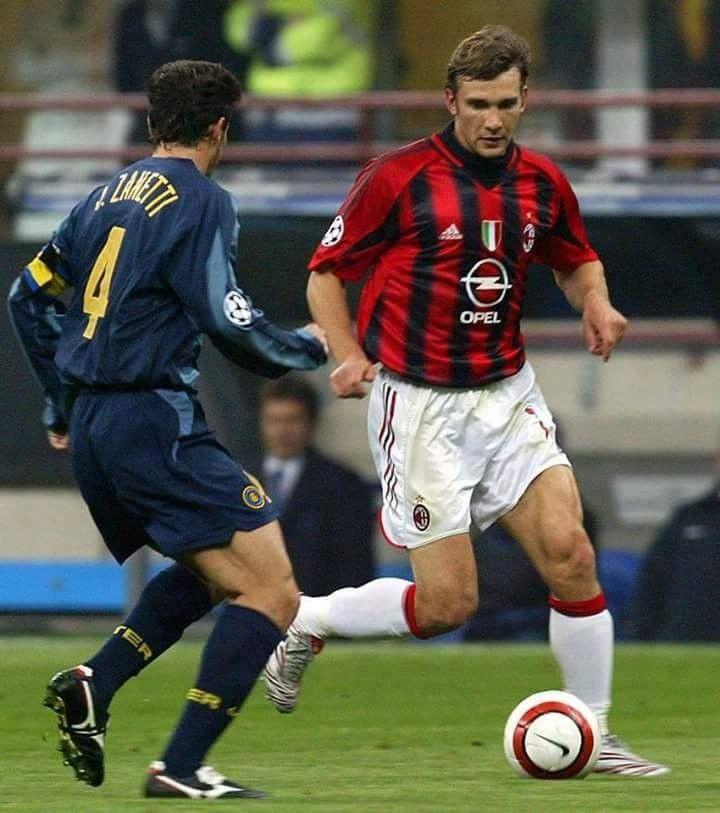 Zanetti vs Shevchenko | Calcio, Derby