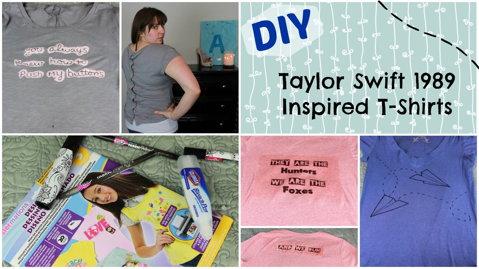 DIY Taylor Swift Inspired Shirts | 1989 Swifty