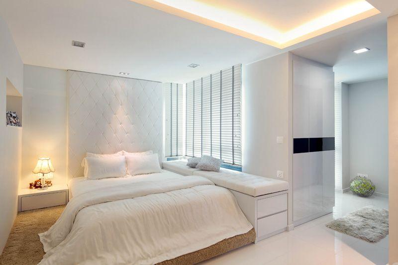 Spacious Cozy Bedroom Bedroom Interior Interior Design Singapore Home Bedroom design ideas hdb