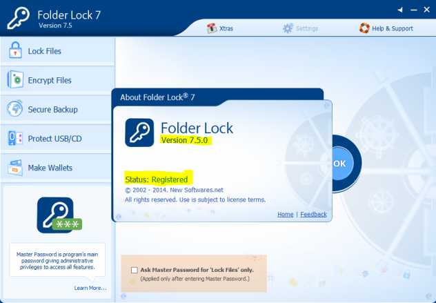 folder lock with serial key