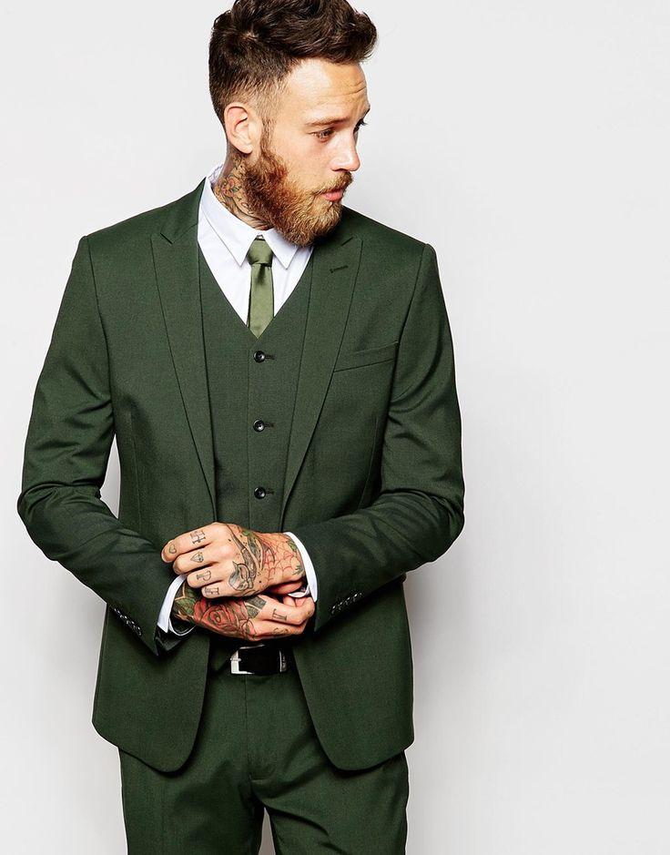 c4e1939e5 Click to Buy << 2017 Latest Coat Pant Designs Green Slim Fit Skinny Man  Suit Casual 3 Piece Tuxedo Groom Suits Custom Fashion Blazer Vestidos 3  #Affiliate