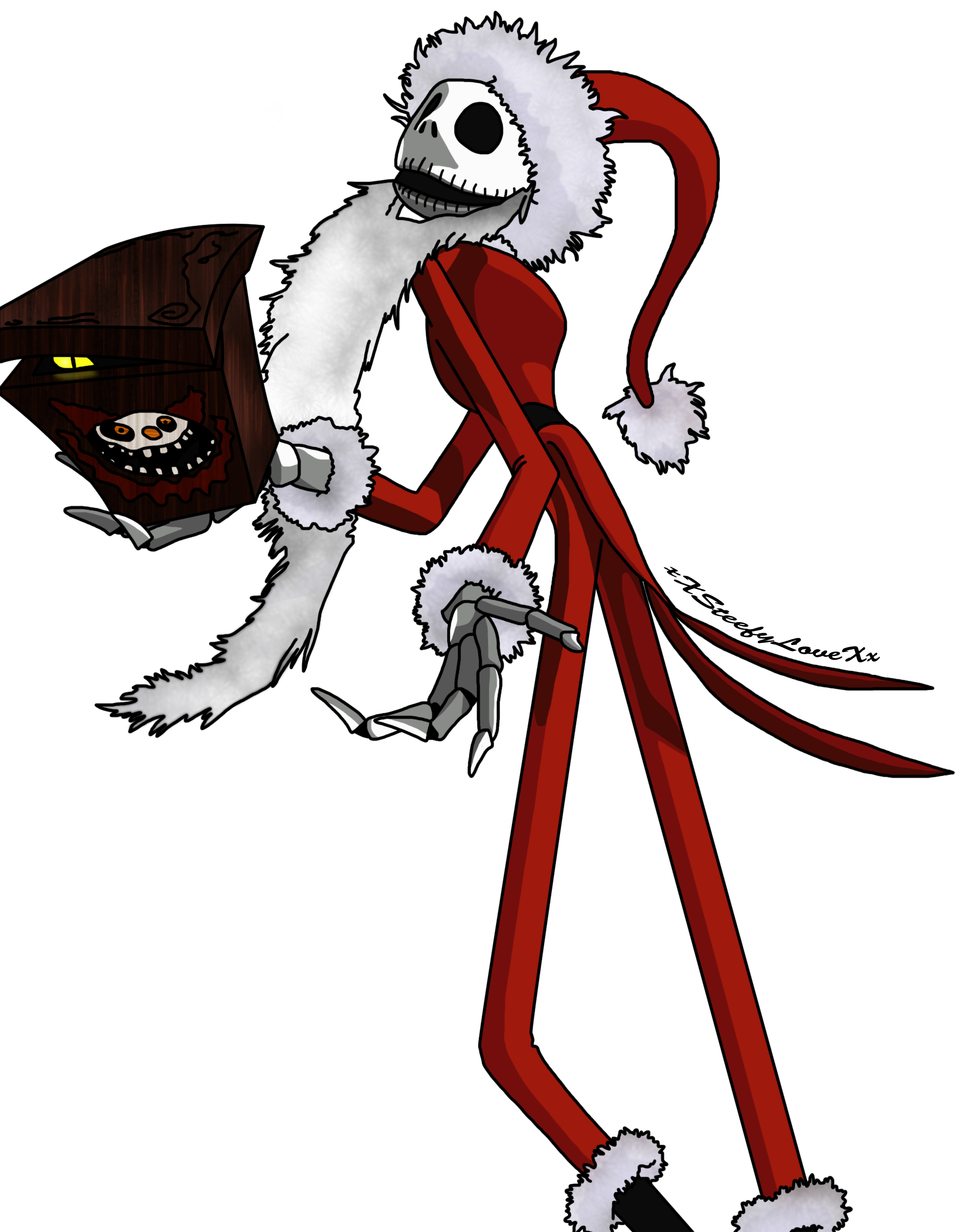 jack skellington   Jack Skellington- Santa's Clothes by ...