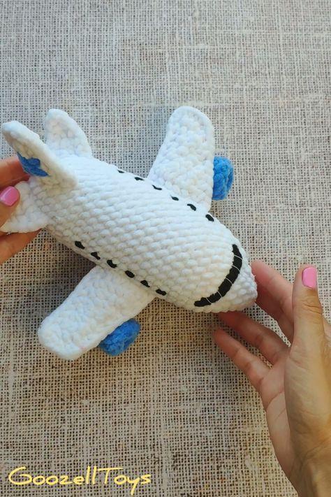 CROCHET AIRPLANE PATTERN, crochet plane toy pattern ...