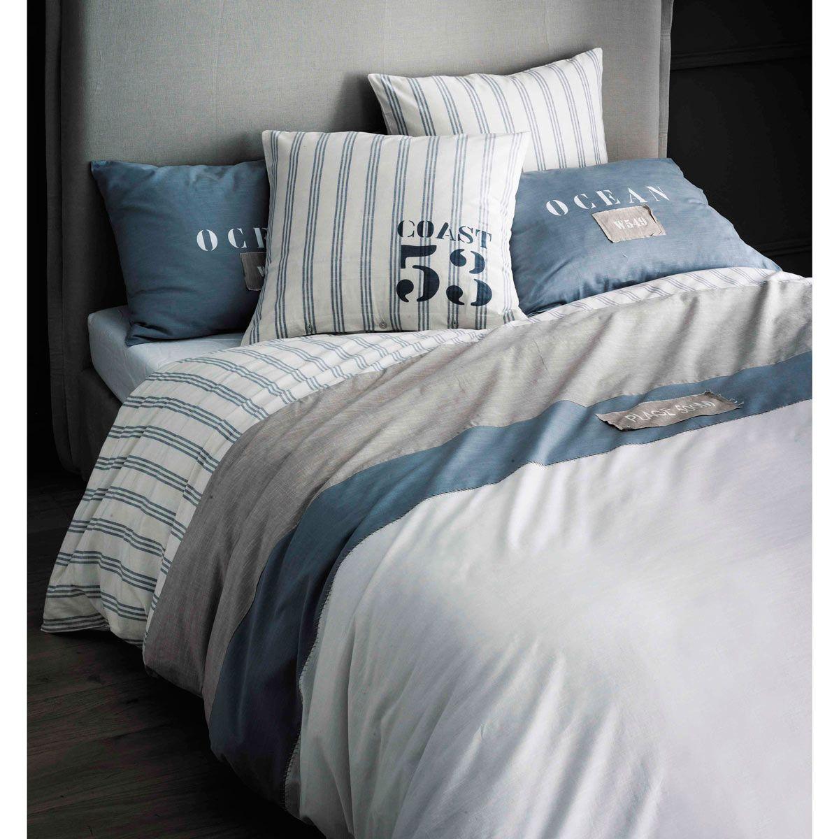 Parure de lit 240 x 260 cm en coton blanche | Parure de lit ...