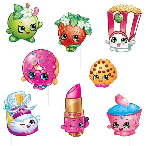 Shopkins Photo Booth Props 8ct Party Ideas Pinterest Accesorios