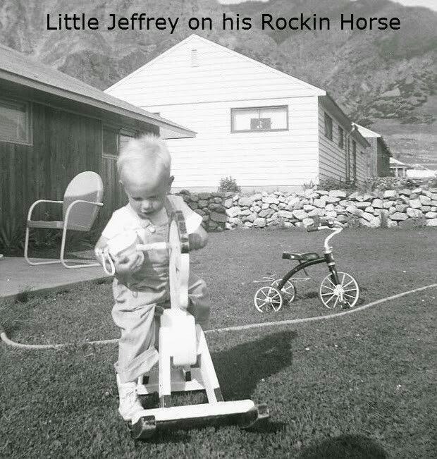 Me and my hobby horse. Maybe three years old.