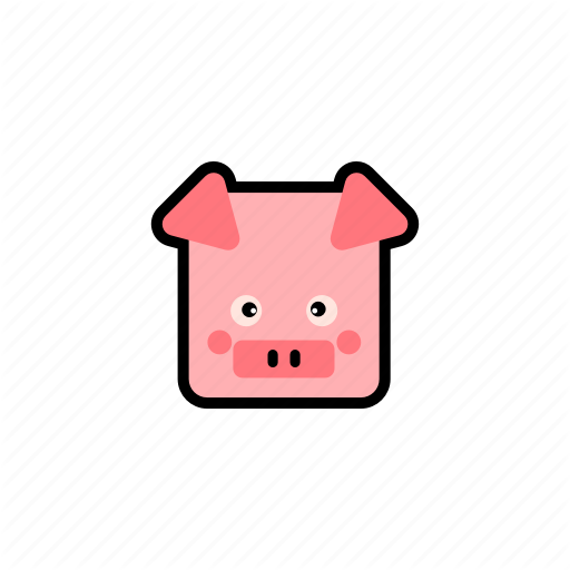 Cute Pig Farm Pig Pig Pig Pink Pink Pig Square Icon Download On Iconfinder Cute Pigs Pig Farming Cute