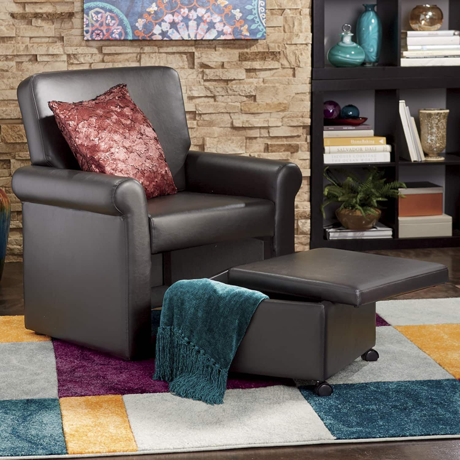 Image result for barrel chair with nesting ottoman chair