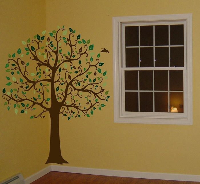 Funky Large Tree Wall Decals Check Out These Creative Designs - How to put up a tree wall decal