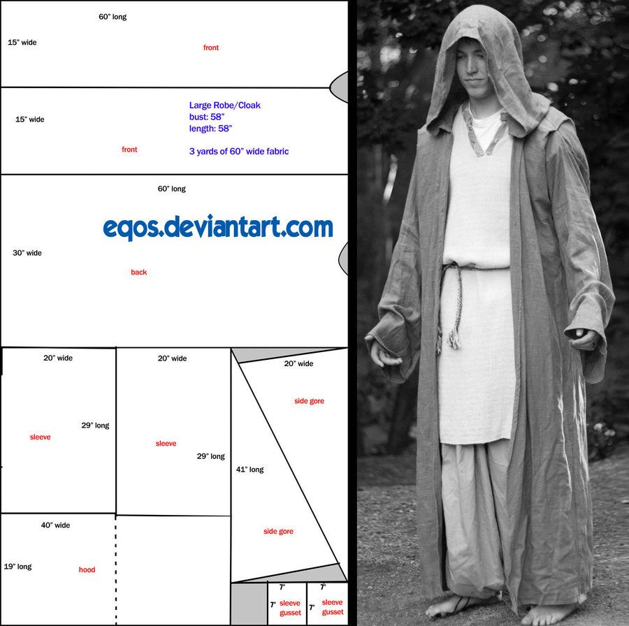 Pattern: Large Hooded Cloak by eqos.deviantart.com on @DeviantArt ...
