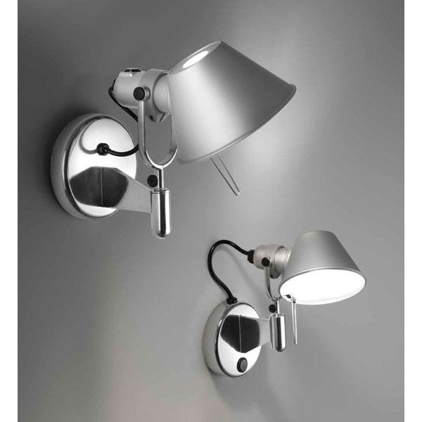 Tolomeo Micro Wall Spot With Switch By Artemide A043608 Wall Lights Artemide Artemide Tolomeo Wall