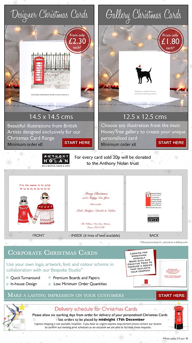 Buy Personalised Christmas Cards Online at Honeytree Publishing ...