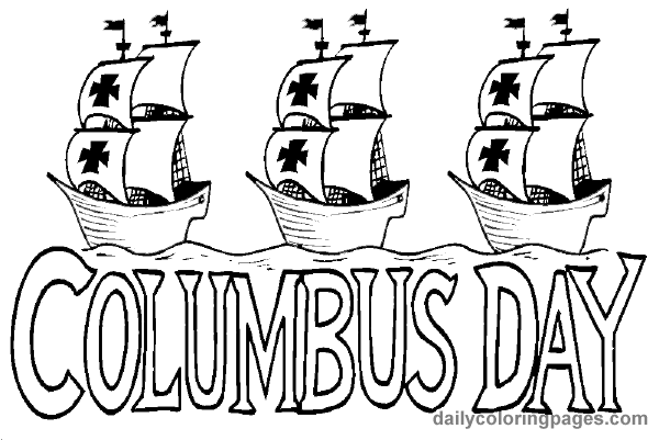 columbus day coloring pages Christopher Columbus Day Printable Coloring Pages World | DIY  columbus day coloring pages
