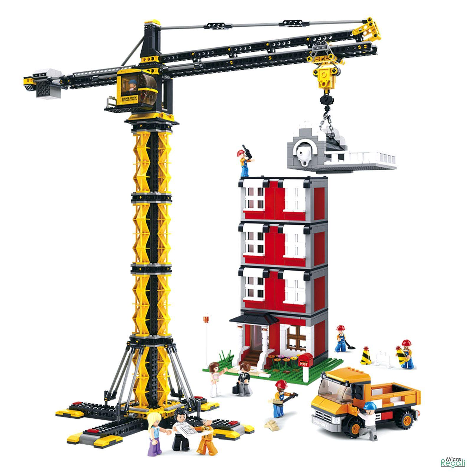 costruzioni gru telescopica con palazzo mattoncini sluban 0551 per bambin costruzioni e. Black Bedroom Furniture Sets. Home Design Ideas