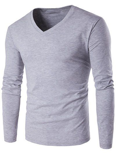 V-Neck Long Sleeve T-Shirt #shoes, #jewelry, #women, #men, #hats, #watches