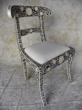 Rajasthan Chair Of Bone Inlay Detail Eclectic Chairs