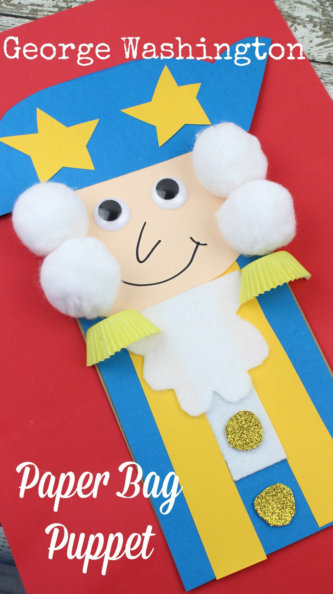 President S Day George Washington Paper Bag Kid S Craft
