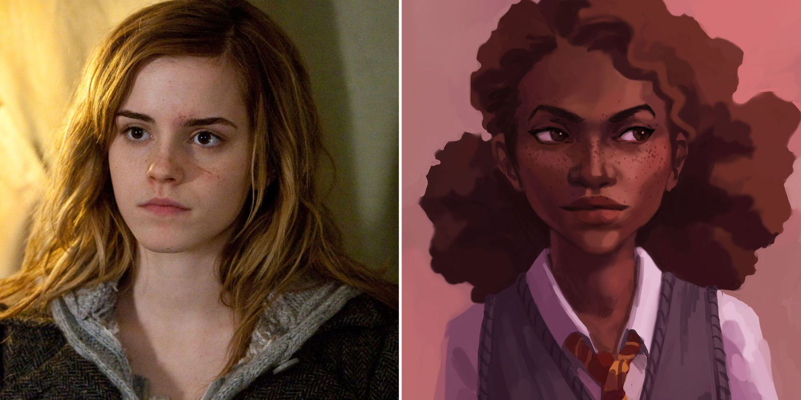 Why Did Everyone Assume Hermione Granger Was White In The First Place Hermione Granger Fanart Hermione Granger Black Hermione