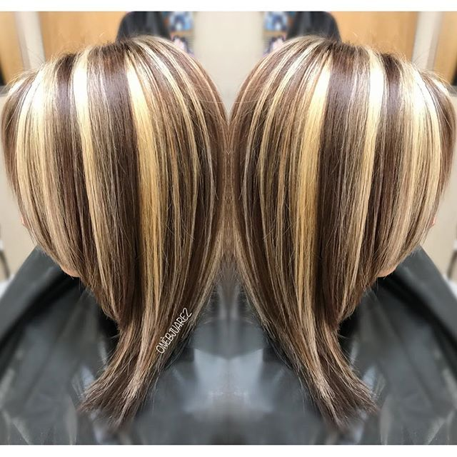 Oneidajuarez Chunky Highlights Hair Coloring And Autumnwinter