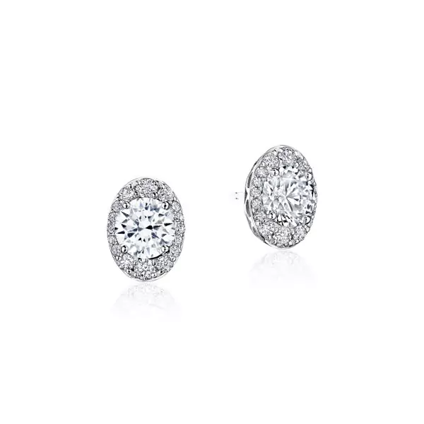 Oval Bloom Diamond Earring Diamond Earrings Diamond Studs Diamond