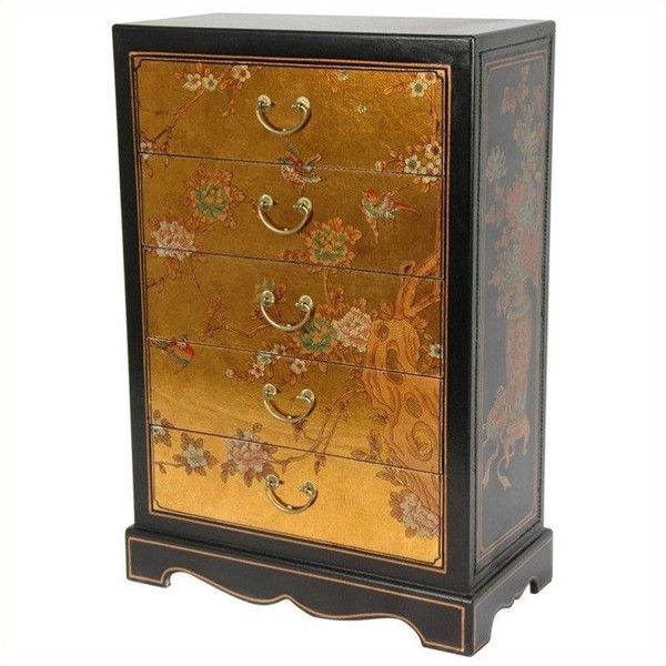 Oriental Furniture Accent Chest (£535) ❤ Liked On Polyvore Featuring Home,  Furniture